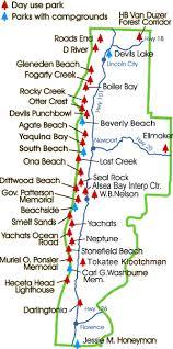 map of oregon lighthouses central oregon coast state parks
