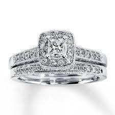 what are bridal set rings 2018 popular princess cut diamond wedding rings sets