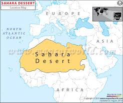 africa map deserts desert travel information facts location best time to