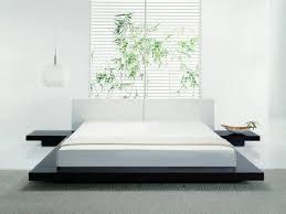 japanese floating platform bed style white quinn size bed platform