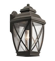 Kichler Outdoor Wall Sconce Kichler 49842oz Tangier 1 Light 17 Inch Olde Bronze Outdoor Wall