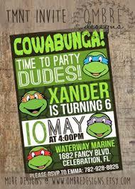 ninja turtle invitations ninja turtles invite ninja by artsyowly