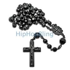 black rosary all black beaded rosary necklace rosary necklace hip