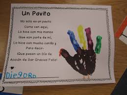 happy thanksgiving spanish thanksgiving poems in spanish for kids google search fall