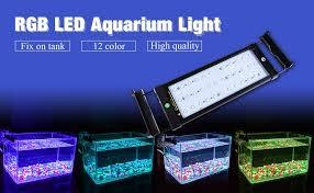 Led Aquarium Lighting Amazon Com Nicrew Rgb Led Aquarium Light Dimmable Fish Tank