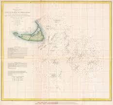 Nantucket Map File 1853 U S Coast Survey Nautical Chart Or Map Of Nantucket