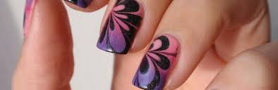 how to do water marble nails tutorial