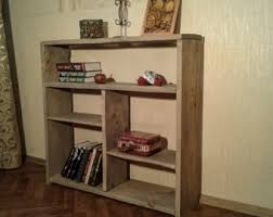 Low Narrow Bookcase Low Bookcase Etsy