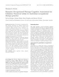 dynamic occupational therapy cognitive assessment for children