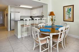 beach condo rentals vacation rentals panama city beach fl dining table