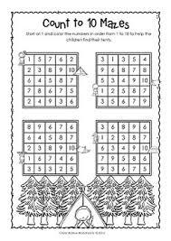 to 10 ordering numbers to 10 kindergarten worksheets printables