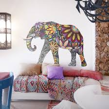 wall decal no 651 elephant pattern