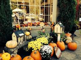 fall decorations for outside fall decorations outside picture of tea room and garden