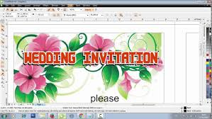 Wedding Invitation Card Design Software Free Download Make A Wedding Invitation Design In Coreldraw Youtube