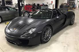 black porsche 918 spotlight matte black porsche 918 martini