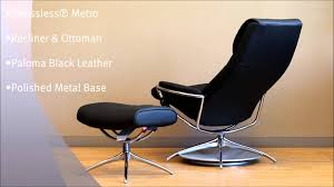 Black Leather Chairs For Sale Ekornes Stressless Metro Low Back Leather Recliner Chair Metro