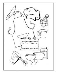 cooking coloring page kitchen and cooking coloring pages