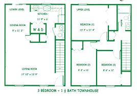 3 bedroom 3 bath floor plans floor plans of diamond valley apartments in evansville in
