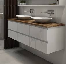 Wall Hung Bathroom Vanity by Charming Wall Hung Double Vanity And Abersoch 55 Inch Wall Mounted