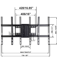 amazon com videosecu mw380b3 full motion articulating tv wall