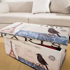 beautiful vintage paris eiffel tower ottoman storage box