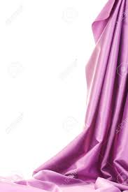 Drape Of Fabric Purple Silk Drape Isolated On White Stock Photo Picture And