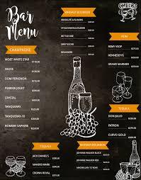 bar menu board design template click to customize menu