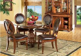 Rooms To Go Dining Table Sets by Shop For A Cindy Crawford Home Key West Dark Pedestal 5 Pc Dining