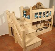 Wood For Building Bunk Beds by How To Build A Bunk Bed For Your Pets Diy Projects For Everyone
