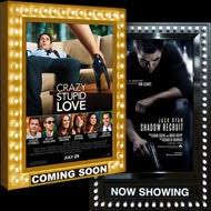 lighted movie poster frame cinemashop movie poster frames marquees and cases