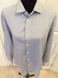 john varvatos 102515 light gray button down dress shirt size large