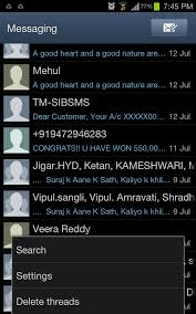 text android how to search for particular text message within on android phone