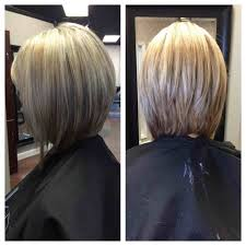 bob haircut with low stacked back shoulder length view long back medium long length hairstyles back of medium length