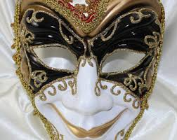 venetian jester mask jester mask etsy