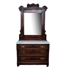 Mirror Chest Of Drawers Antique Eastlake Style Marble Top Chest Of Drawers With Mirror Ebth