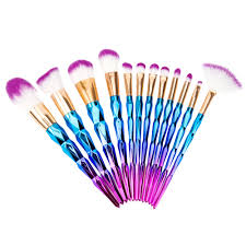 7 10 12pcs diamond shape best makeup brush set