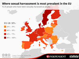 Europe Capitals Map by Sweden And Denmark Have Highest Rates Of Sexual Harassment In