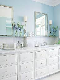 Blue Bathroom Vanity Cabinet Traditional Bathroom Decor Ideas Shelves Wall Colors And Marbles