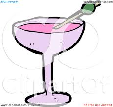 cocktail cartoon cartoon of a cocktail royalty free vector clipart by