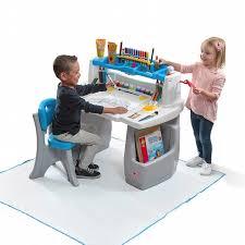 buy art desk online step 2 step2 deluxe art desk with splat mat multicolor shop your