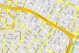 Downtown Manhattan Map Google Maps The Way Robert Moses Intended Curbed Ny