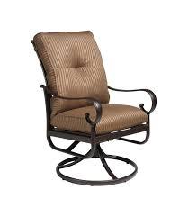 Swivel Dining Chair Alumont Santa Barbara Cushion Swivel Dining Chair Leisure Living