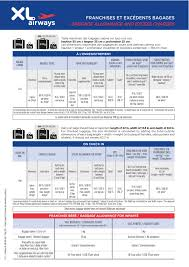 united international baggage allowance general conditions of carriage xl airways