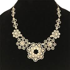crystal collar statement necklace images Kate spade silver new york crystal lace collar statement necklace jpg