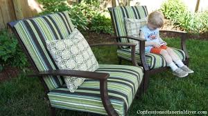 Porch Chair Cushions Excellent Sew Easy Outdoor Cushion Covers Part 1 Confessions Of A
