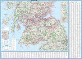 map of scotland and scotland touring map collins maps 9780008158521 amazon com books