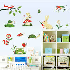 Frog Nursery Decor Fundecor Free Shipping Frog Insect Farm Animals Wall
