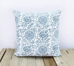 kalamkari print indigo pillow cover blue cotton cushion cover