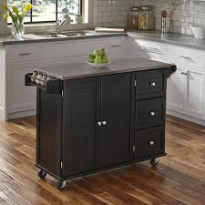 liberty kitchen cart with stainless steel top black walmart com