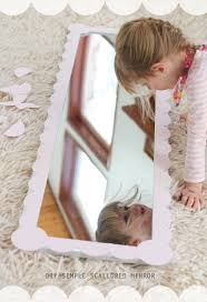 Diy Girls Bedroom Mirror Diy Simple Scalloped Mirror Warm Chocolate
